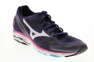 Mizuno Wave Rider 17 FCLR402B57 Womens Purple Mesh Athletic Running Shoes 8