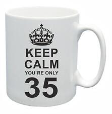 35° Novità Idea regalo compleanno Tazza da tè Keep Calm Your SOLO 35 Tazza Caffè