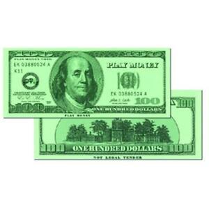 Learning Advantage CTU7504 100 Dollar Bills Set Of 50