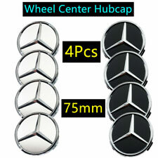4X Car Wheel Center Caps Hub Rim Caps Logo Badge Emblem For Mercedes Benz 75MM
