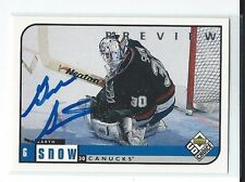 Garth Snow Signed 1998/99 UD Choice Preview Card #207