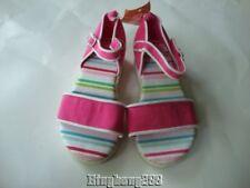 Gymboree TENNIS MATCH Pink Strip Sandals Shoes Girl Size 10 NWT - Spring Summer