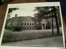 Austinburg Ohio Public Grade School 1945 black & white photo 9 1/4 by 8 e31
