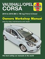 Vauxhall Corsa Opel Corsa Petrol & Diesel 2015-2018 Haynes Workshop Manual 6428