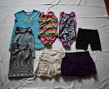 Lote de 7 artículos de verano 4T Chicas Sin mangas Prendas para el torso Shorts faldas Trajes de Baño Playa Natación Cubierta