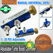 Blue Adjustable Turbo Manual Boost Controller Incabin Fitting Kit 30PSI Valve