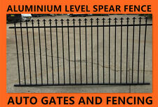 Aluminium Fence Panel - Spear Top Black Fencing 2400 X  1200mm High