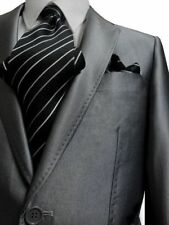 FIORELLI 2B MEN SUIT SHINY SILVER SLIM FIT & LAPEL 36S 36 S FREE FAST SHIP & TIE