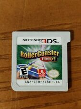 RollerCoaster Tycoon 3D (Nintendo 3DS, 2012) Cart Only -Tested