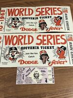 Authentic Collectible MLB 68 Detroit Tigers World Series Ticket, Bumper Sticker