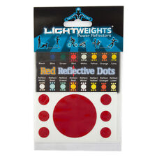 Lightweight Safety Limited Reflective Dots 7pc Reflector Lw Safety Dots 7p Red