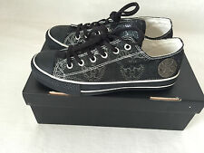 THOMAS WYLDE UNISEX AUTHENTIC BLACK, SILVER SKULL SNEAKERS NEW IN BOX. 9
