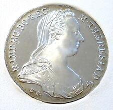 1780 AUSTRIA MARIA TERESA TALLERO reinnesco SILVER MONETA CARTELLA presentazione