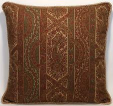 "2 22"" Designer Throw Pillows Ralph Lauren Benson Paisley Fabric"