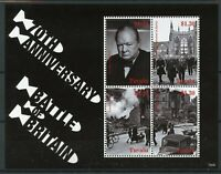 Tuvalu 2010 MNH WWII WW2 Battle of Britain 70th Ann 4v M/S I Churchill Stamps