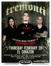 Mark Tremonti of Creed 2013 Gig Poster Seattle Washington Concert