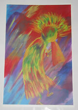 NeW 2003 ART Print Watercolor Appearance Rainbow KOKOPELLI Signed LE/50 11x17