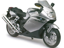 BMW K1200S SILVER BIKE 1/12 MOTORCYCLE MODEL BY AUTOMAXX 600303S