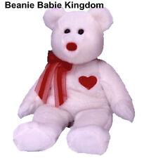 "TY Buddy * VALENTINO * la VALENTINE Buddie Bear 14 "" * BIANCO CON CUORE ROSSO"