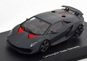 LAMBORGHINI SESTO ELEMENTO with CASE 1:43 Scale Model Diecast Toy Car Black