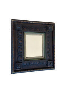 Wooden Hancarved Mirror  Colonial Mexico 🇲🇽21.5@20 In
