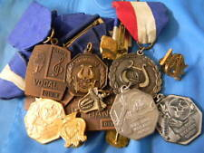 16 Vintage Illinois High / Grade School Assoc IHSA Band Division One Medals