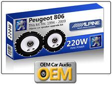 PEUGEOT 806 PORTA POSTERIORE SPEAKER Alpine 16.5cm 17cm Altoparlante Auto KIT