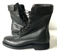 ARMY COMBAT BOOTS MILITARY BLACK LEATHER DEFENCE FLYERS MADE IN USA - SIZE 8 EE