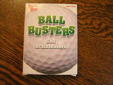 University Games BALL BUSTERS~~GOLF~~Playbook of Puzzlers 55 Trivia Brainteasers