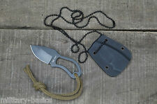 Halsmesser Neck Knife Small Kette Kydex Security 9 cm schwarz