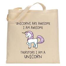 I Am A Unicorn Natural Tote Bag Birthday Christmas Gift Shopping Bag
