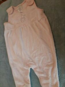 carters baby girl 0-3 months coveralllight pink with white stripes