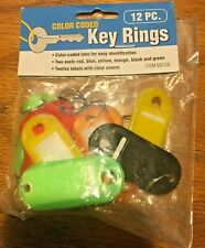 HFT Color Coded Key Rings, 12 Pc.
