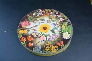 Vintage Springbok Wild Flowers Round Circular Puzzle 1965 Maynard Reese