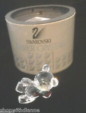 Swarovski Silver Crystal Kris Bear With Scarf 7637 Nr 001 W/ Box