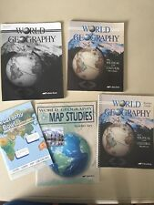 ABeka World Geography Student Textbook with Teacher Guide Key and Geography Bowl