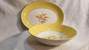 Century Service Corp Semi-Vitreous serving bowl & platter Autumn Gold