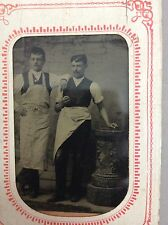 Antique victorian Tintype Doctors with Apron photo