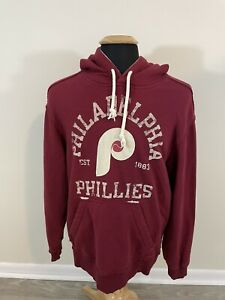Reebok Cooperstown Collection Philadelphia Phillies Medium Red Hoodie Sweatshirt