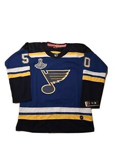 NEW Adidas Climalite NHL St. Louis Blues '19 Stanley Cup Champs Jersey sz 56 #50