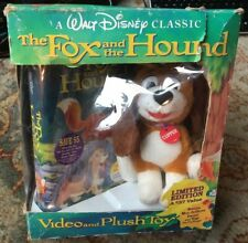 The Fox And The Hound VHS Video And Plush Toy Boxset Tape Still Factory Sealed
