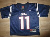 Ole Miss Rebels #11 Mississippi Football Nike Jersey Toddler 2T