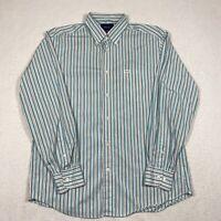 Faconnable Classique Mens Large Multicolor Striped Button Down Long Sleeve