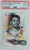 2018-19 Panini Court Kings Trae Young Rookie RC #127, Graded PSA 9, Pop 9, 10 ^