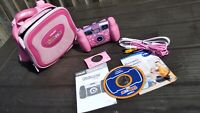 Vtech Kidizoom Girls Photo Digital Camera Pink Toy Travel Case Instructions CD