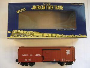 """American Flyer 6-41023 """"G. FOX & COMPANY"""" NETCA  BOXCAR """"NEW"""" in ORIG BOX"""