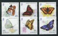 Jersey 2017 MNH Butterflies Links with China 6v Set Butterfly Insects Stamps
