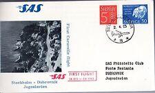B0194- 1er  LIAISON AERIENNE   STOCKHOLM   DUBROVNIK    SAS