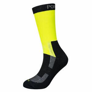 Portwest SK27 Lightweight Hi-Vis Sock Reinforced Toe/Heel Comfort - Yellow