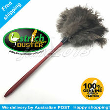 Anti-static 65cm wood stained handle soft floss ostrich feather duster AU STOCK